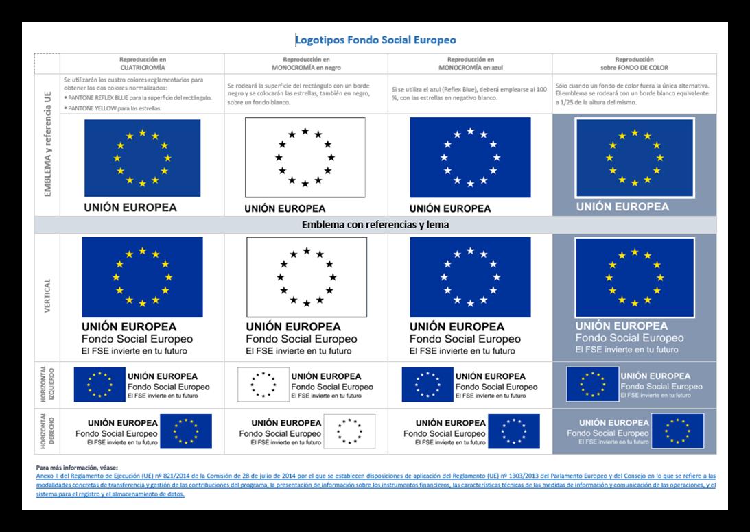 Logotipos Fondo Social Europeo